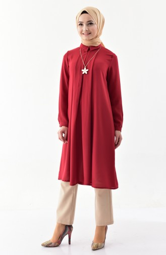 Necklace Tunic 4059-03 Claret Red 4059-03