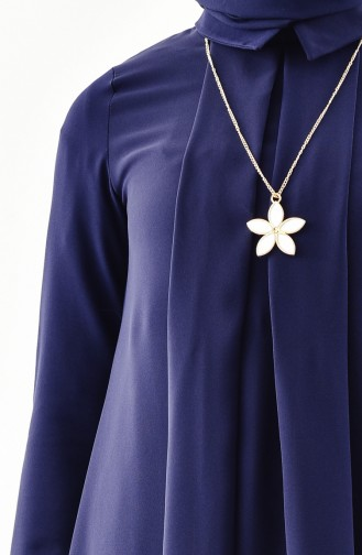 Necklace Tunic 4059-04 Navy Blue 4059-04