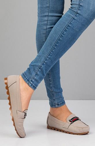 حذاء مسطح رمادي 2022-04