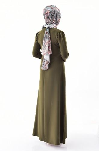Khaki İslamitische Jurk 4023-09