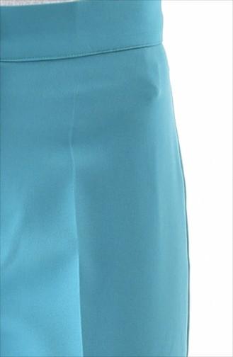 Düğmeli Düz Paça Pantolon 1102-03 Çağla Yeşili