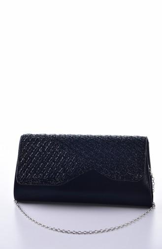 Dame Quasten  Abendkleid Tasche 0314-01 Schwarz 0314-01