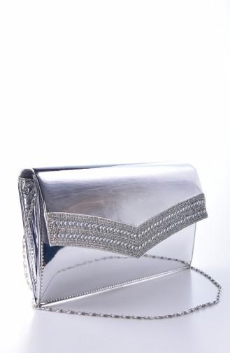 حقيبة يد رمادي فضي 0326-03