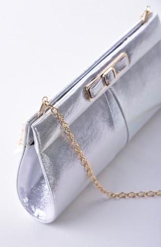 حقيبة يد رمادي فضي 0416-01