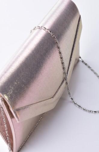 Gold Colour Portfolio Hand Bag 0440-01