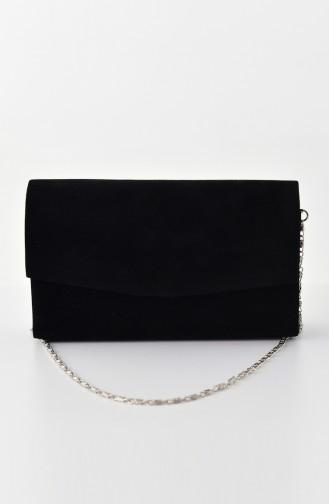 Dame Nubuk Abendkleid Tasche 0474-01 Schwarz 0474-01
