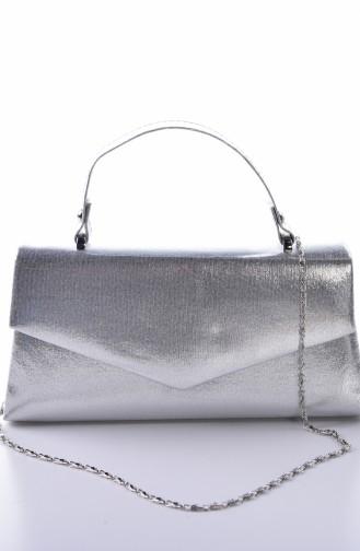 Dame Abendkleid Tasche 0504-03 Silber 0504-03