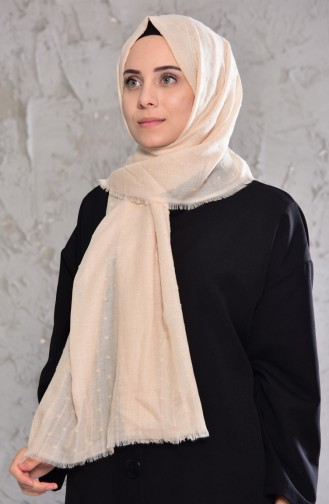 Bobble Pattern Shawl 19042-26 Light Beige 19042-26