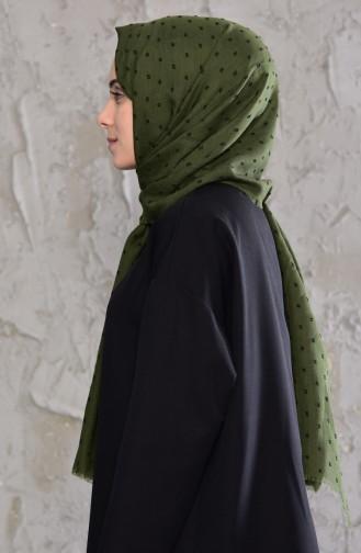 Ponpon Şal 19042-27 Açık Haki Yeşil