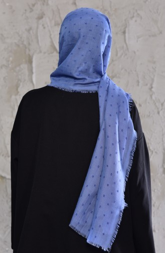 Bobble Pattern Shawl 19042-29 Blue Jeans 19042-29