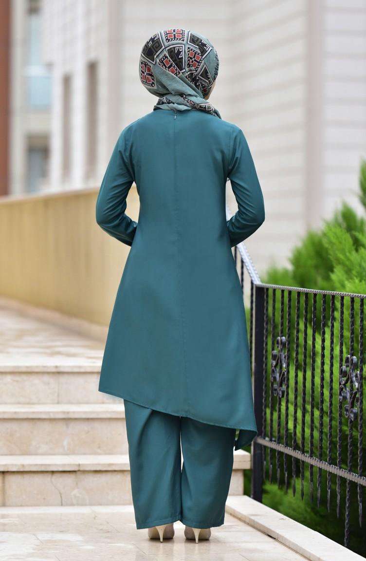 Takım Yeşili 10107 Zümrüt 04 Pantolon Tunik İkili I9HYD2WE