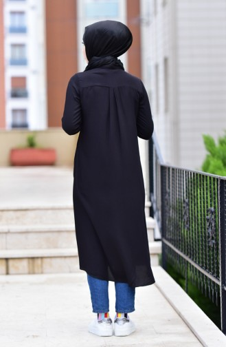 Long Viscose Tunic 8121-01 Black 8121-01