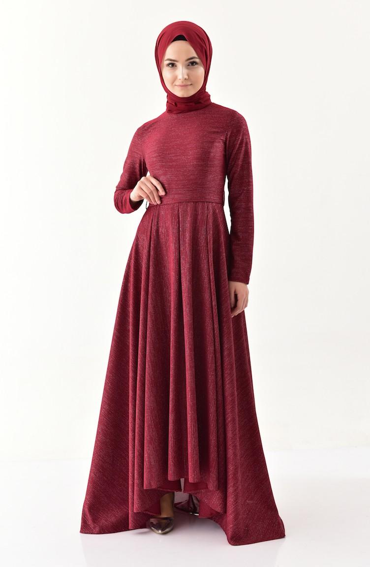488760e7d25 Claret red Dress 4266-01