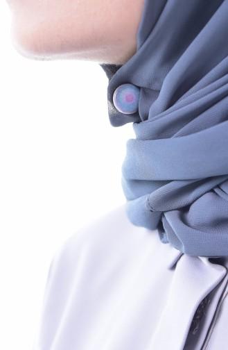 Ethnische gemusterte magnetische Schal-Schleier Spange 70100-02 Violett 70100-02
