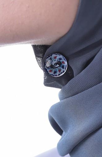 Pince Magnétique de Châle et Echarpe 70101-03 Bleu 70101-03