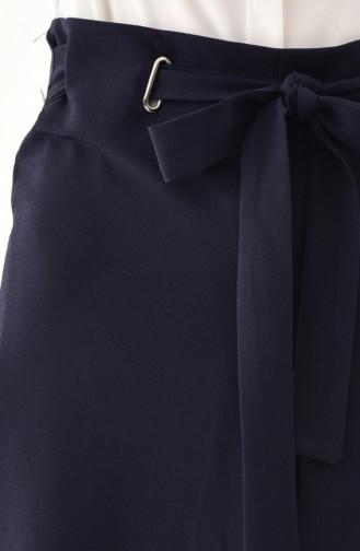 Belted Pants Skirt 31247-02 Navy Blue 31247-02