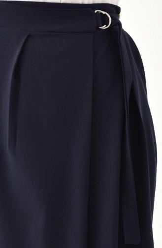بورون بنطال قصة تنورة بتصميم حزام للخصر 31249-02 لون كحلي 31249-02