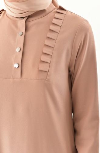 Ruffled Tunic Pants Binary Suit 1905-05 Mink 1905-05