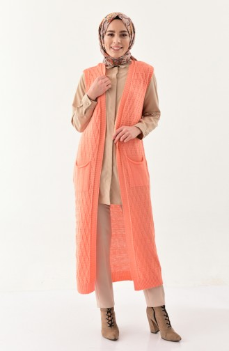 Knitwear Pocket Vest  8109-06 Salmon 8109-06