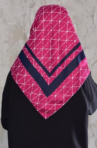 شال رايون بتصميم مُطبع901436-10 لون فوشي 901436-10