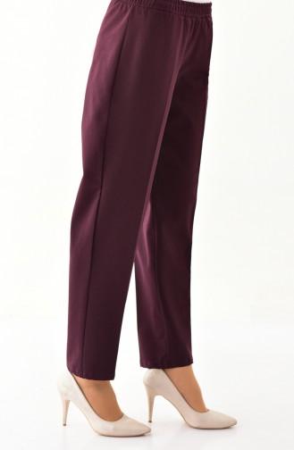 Elastic Waist Pants 2062-01 Plum 2062-03