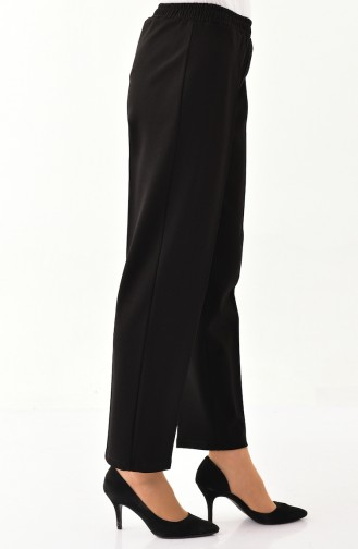DURAN Elastic Straight Leg Pants 2100-02 Black 2100-02