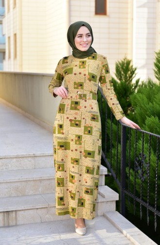 Khaki Dress 9035-03