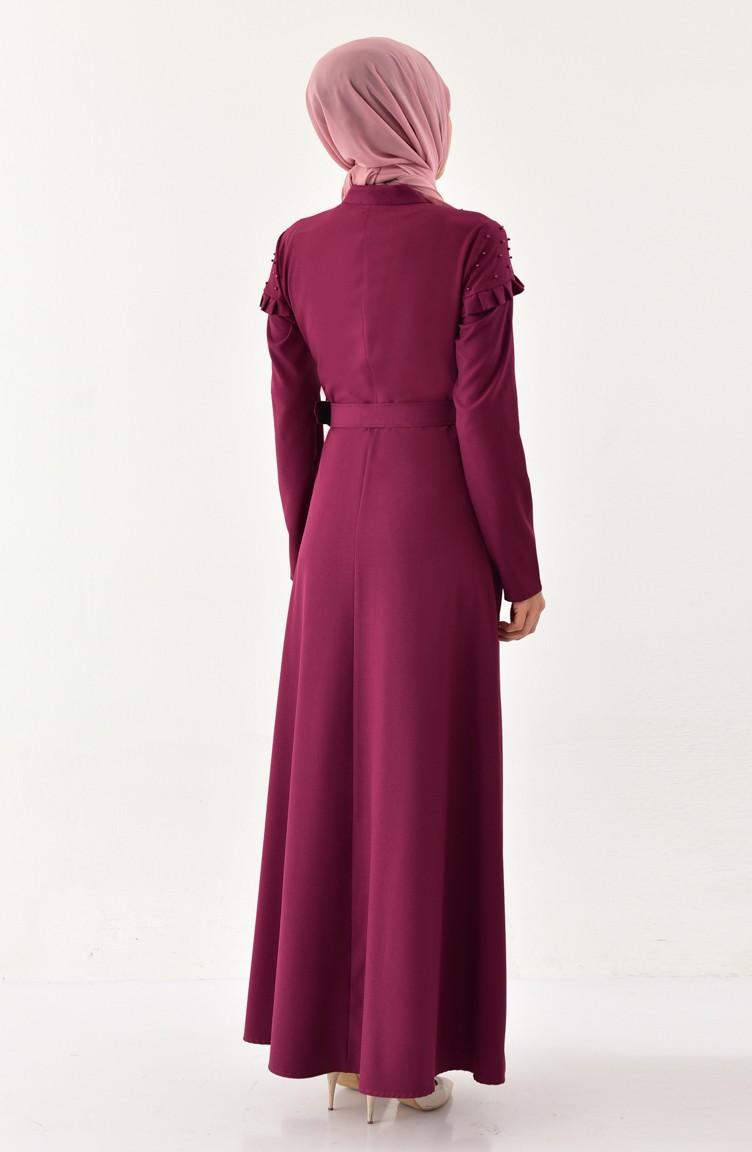 3c2278627ed Pearl Belted Dress 2021-06 Plum 2021-06
