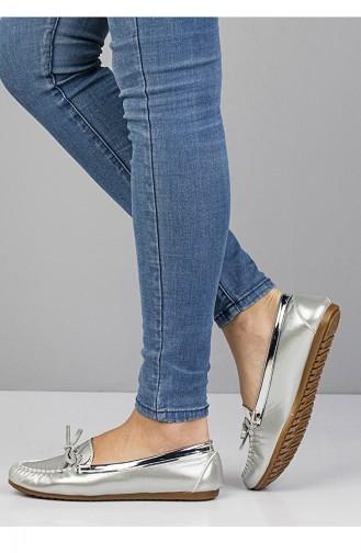 حذاء مُسطح باليرينا 3110 لون فضي 3110
