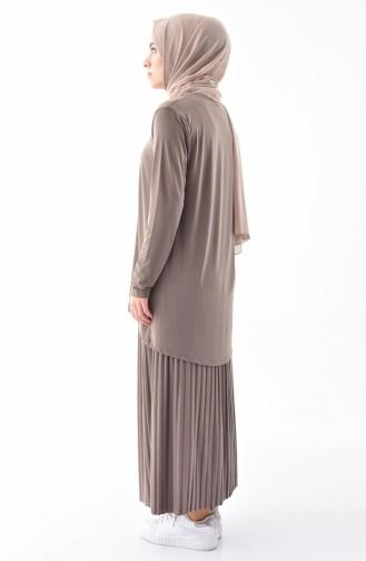 iLMEK Tunic Skirt Double Suit 5237-01 Mink 5237-01
