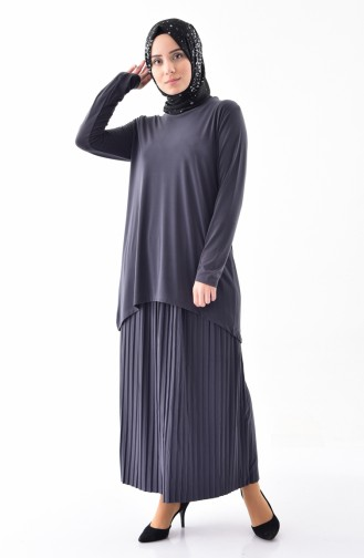iLMEK Tunic Skirt Double Suit 5237-08 Anthracite 5237-08