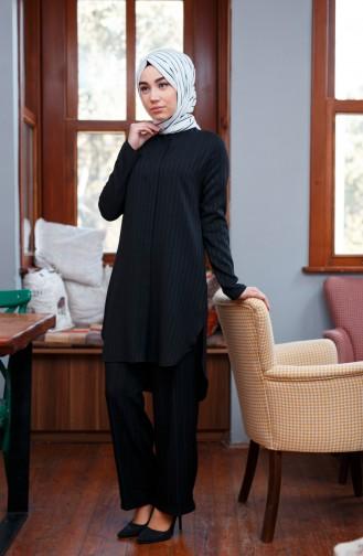 Tunik Pantolon İkili Takım 9001-01 Siyah