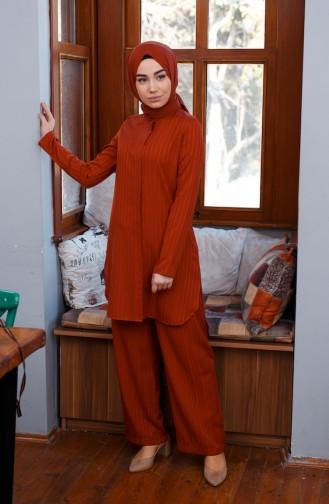 Tunik Pantolon İkili Takım 9001-02 Kiremit