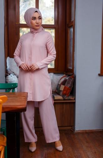 Tunik Pantolon İkili Takım 9001-06 Pudra 9001-06