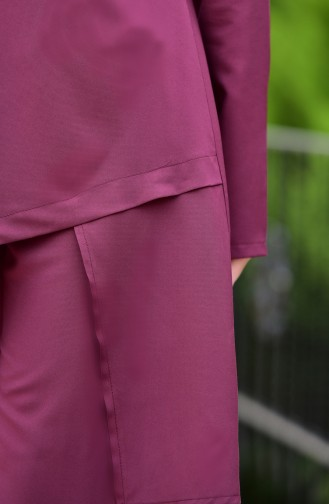 Tunic Pants Binary Suit  10107-01 Claret Red 10107-01