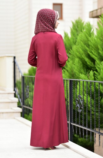 Claret red Dress 1919-07