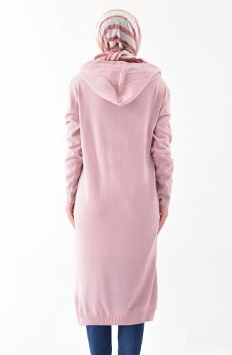Hooded Knitwear Tunic 4117-07 Powder 4117-07