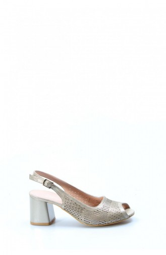 Beige Heeled Shoes 064ZA978-16781751