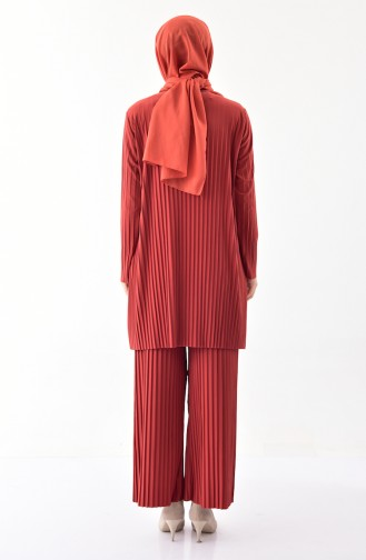 iLMEK Pleated Tunic Pants Double Suit 5219-10 Tile 5219-10