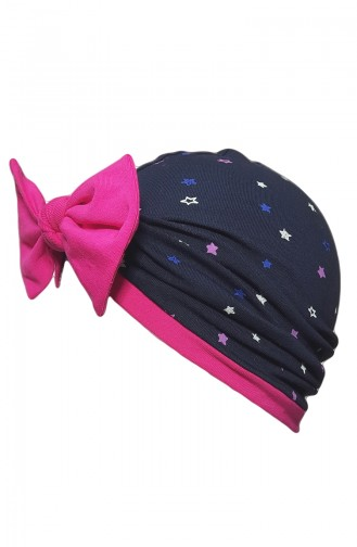Bow Design Bonnet BCB011 Navy Blue 011