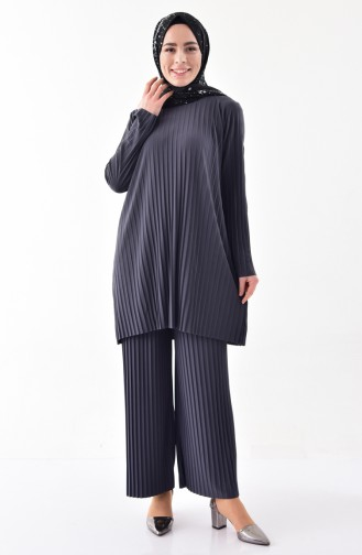 iLMEK Pleated Tunic Pants Double Suit 5219-03 Antrasit 5219-03
