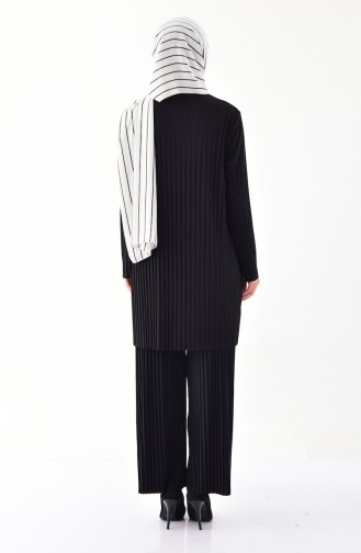 iLMEK Pleated Tunic Pants Double Suit 5219-04 Black 5219-04