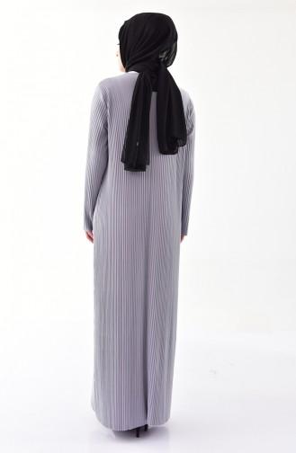Kleid mit Plissee 5217-03 Grau 5217-03