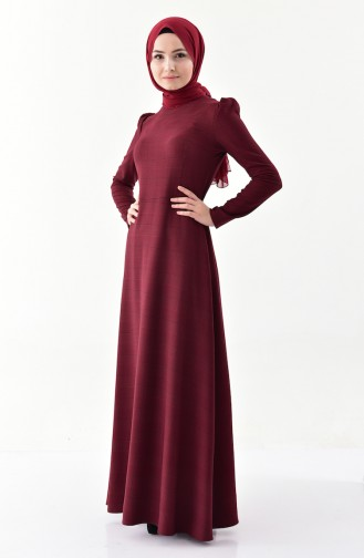 أويا فستان بتصميم كروهات 9000-04 لون خمري 9000-04