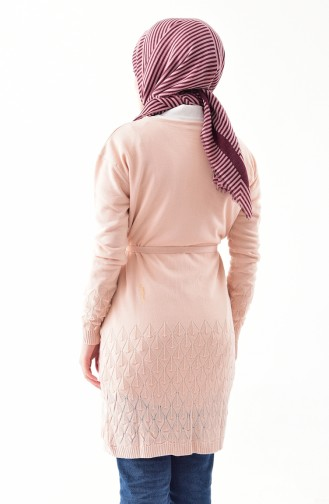 Knitwear Belted Cardigan 9003-06 Powder 9003-06