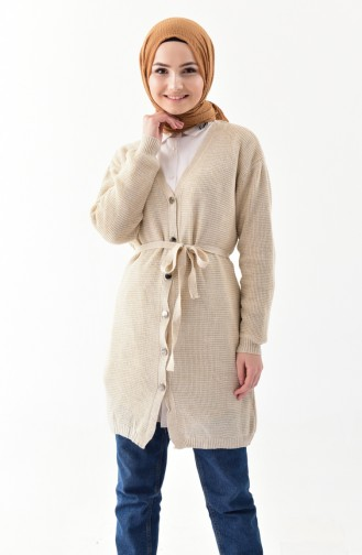 Gilet Tricot a Boutons 9004-05 Beige 9004-05