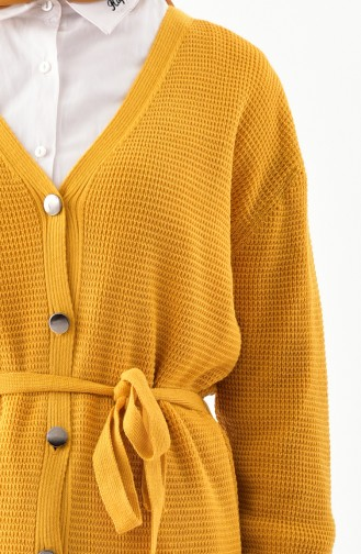 Gilet Tricot a Boutons 9004-06 Moutarde 9004-06