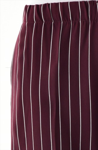 Pantalon Plum Foncé 1018-03