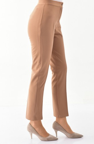 Buttoned Straight Leg Pants 1102-13 Taba 1102-13