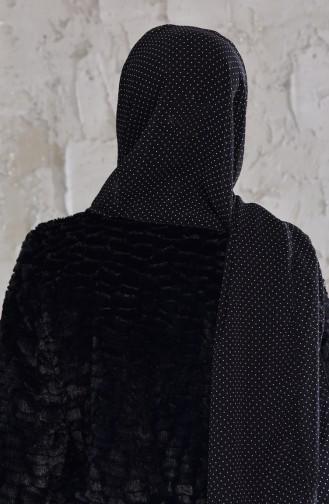 Châle Mousseline a Motifs 4124-01 Noir 4124-01